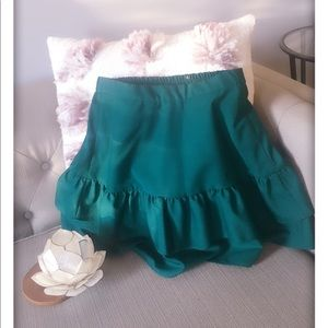 J crew 0 green skirt, holiday party perfect!